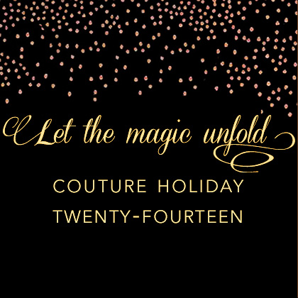 couture holiday stationery