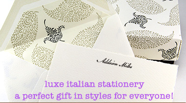 couture personalized stationery